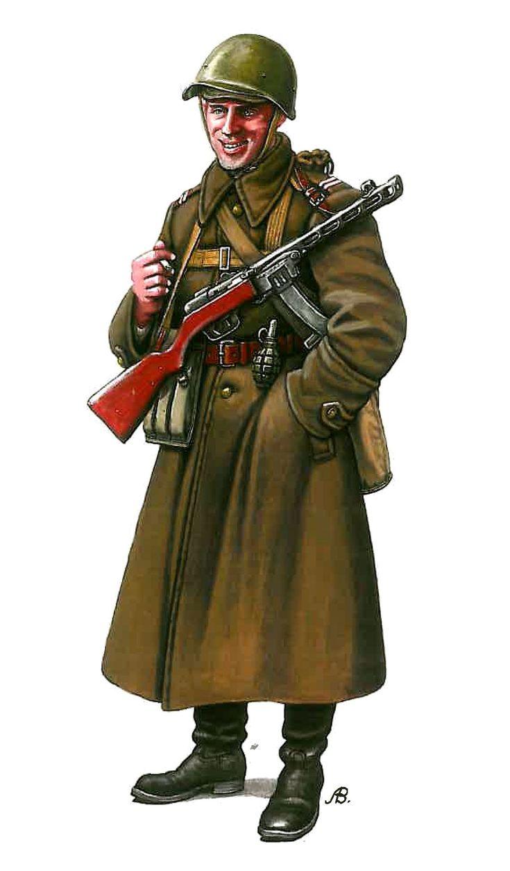 1a Armata polacca (ARMATA ROSSA) - Sergente maggiore della 1a Armata polacca, Pomerania, fine 1944