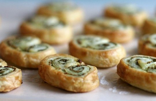 """It says easy, it says quick - I am hooked. """"Pesto palmier"""": doesn't that sound posh for just spreading pesto on puff pastry... nice!"""