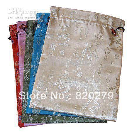 Шелковый шнурок сумки Stroage большой многоразовые двойной слой 10 шт./упак. цветовой гаммы
