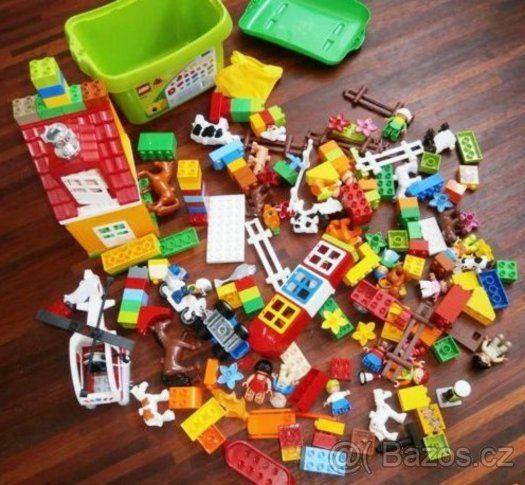 Několik sad lego duplo,domek,farma,kostičky,s poštou - 1