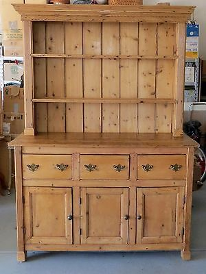 Antique english pine georgian hutch cabinet buffet ca for Sideboard 80 x 40