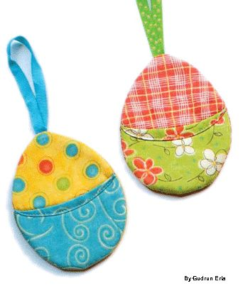 Hatch Pretty Egg Ornaments from Fabric Scraps - Quilting Daily - Blogs - Quilting Daily
