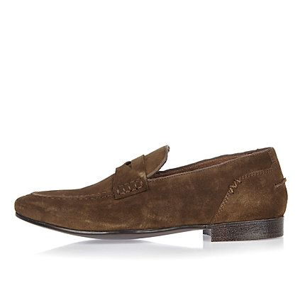 Brown suede saddle loafers £25.00