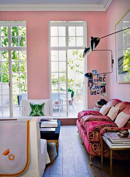 91 besten Coming up Pink Rooms Bilder auf Pinterest Rund ums - rosa wandfarbe wohnzimmer