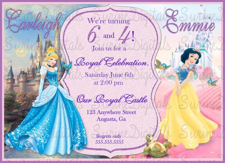 125 best Birthday Invitations images – Cinderella Birthday Card