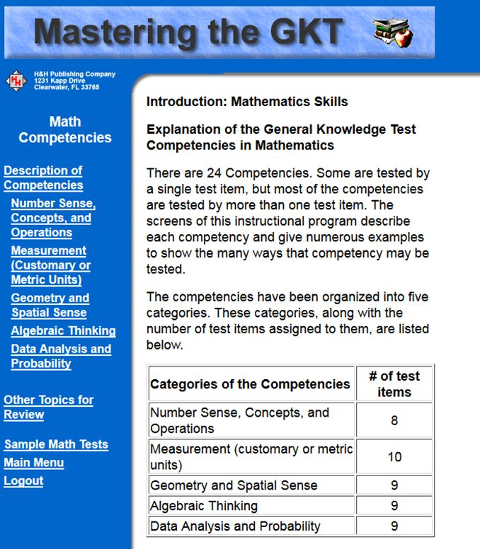 Math Practice for the General Knowledge Exam
