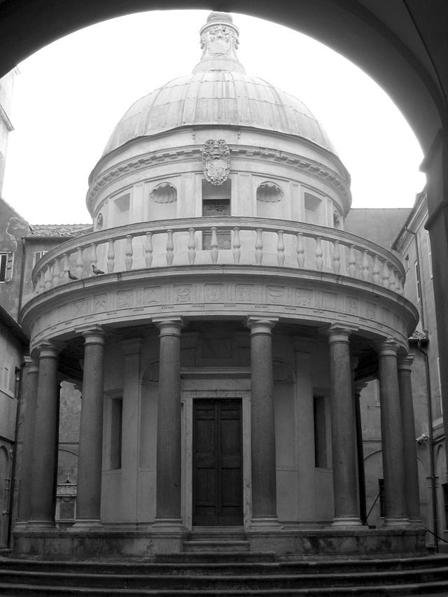 Tempietto del Bramante, Roma - Arquitetura Renascentista.