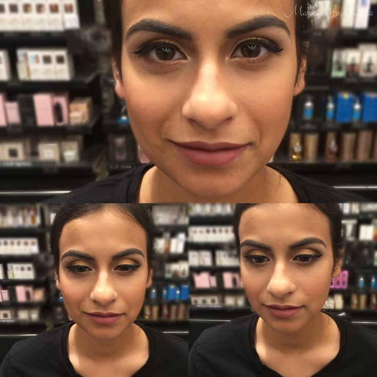 Wedding makeup on this beauty!