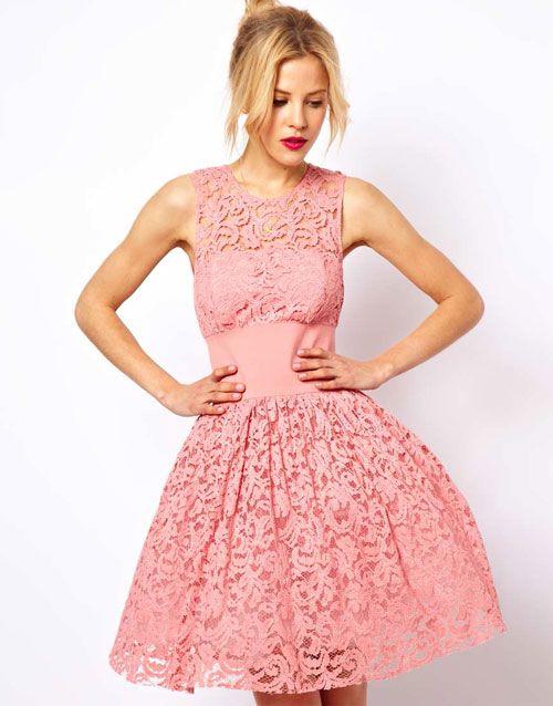 pink dress abschlussball kleider kleider kleiner promis asos kleid