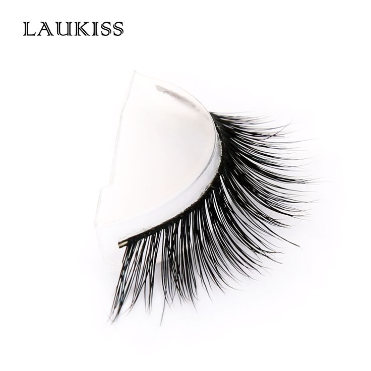 Mink Lashes 1 pair Cilios Vison Cilia for Augmentation Eyelashes Extension Individual Eyelashes Strips Makeup Real Mink LAUKISS #Affiliate