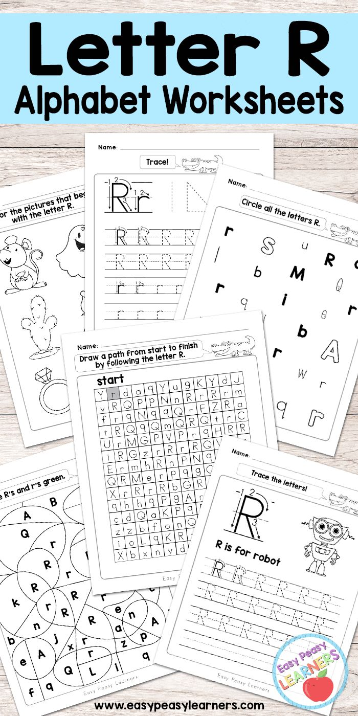 Free Printable Letter R Worksheets - Alphabet Worksheets Series