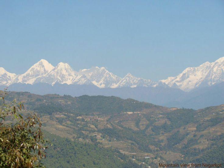 Beautiful view of Himalaya From Nagarkot. www.nepalmtlovers.com