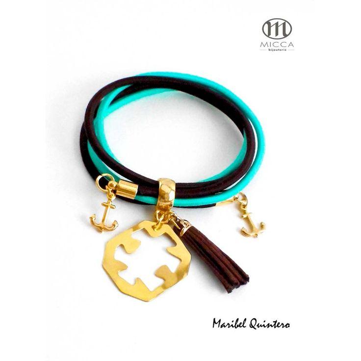 Bracelet Puzzle. Handmade, Goldplated