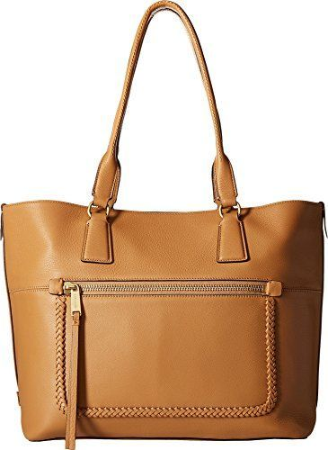 615e23cb63 Cole Haan Women s Celia Medium Zip Top Tote Camel One Size