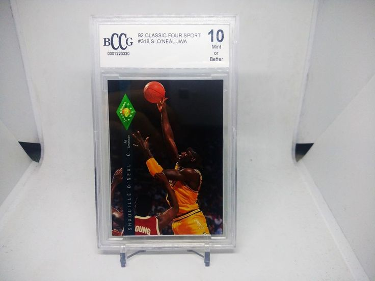 1992 classic four sport shaquille oneal jwa bccg 10