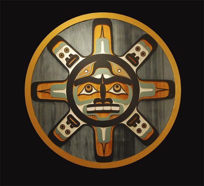 "T'lisala-Lalilabalisala ""Sun"" Panel  William Jr. Wasden    Northwest Coast (Kwakwaka'wakw (Namgis))  Red Cedar, Paint  2012"