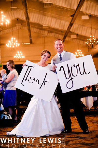 Cute idea for a thank you card for after the wedding!
