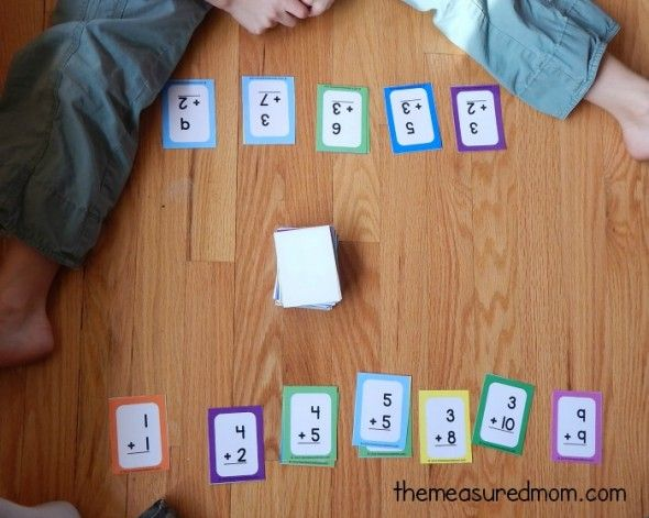 15 in a row fun math facts game using flashcards school. Black Bedroom Furniture Sets. Home Design Ideas