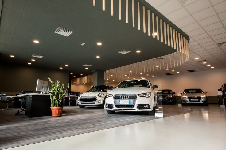 car dealership. Sky car. Interior project.