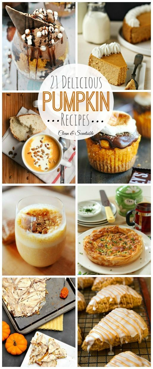 You are sure to find a fall favorite among these delicious pumpkin recipes. Everything from drinks to desserts!  // cleanandscentsible.com