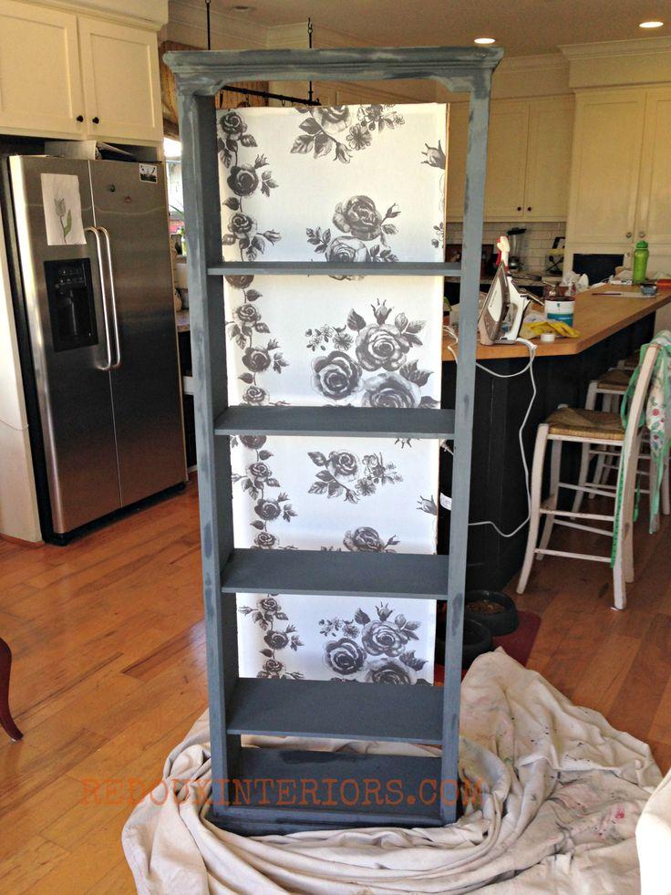 Dumpster Bookshelf DURING redouxinteriors