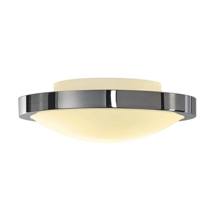SLV Lighting Corona CL LED Chrome / White Ceiling Lamp (Chrome, White), Silver (Aluminum)