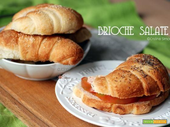 Brioche salate per sandwich  #ricette #food #recipes