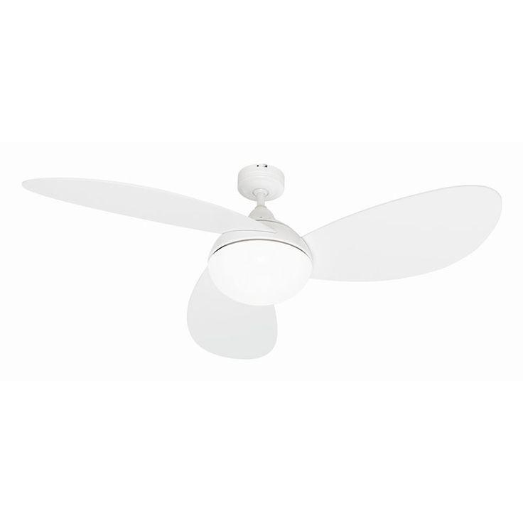 Mercator Trillium Ceiling Fan with Light u2013 White 52u2033 | Lumera Living  sc 1 st  Pinterest & 12 best Fans images on Pinterest | Ceilings Ceiling fans and ... azcodes.com