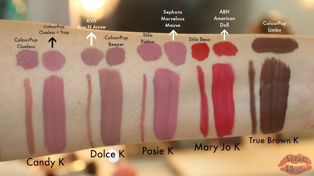 Kylie Cosmetics Lip Kits Dupes (Candy K, Dolce, K, Posie K, Mary Jo K, True Brown K): https://youtu.be/R2lffNmbwqQ @esmereearielle