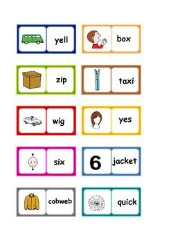 Letters and Sounds phase 3 phonics dominoes . Six sets of printable dominoes with words from Phase 3 of the Letters and Sounds phonics programme. Dominoes : 1. Letters from sets 6 and 7 : j,v,w,x,z/zz,qu. 28 pieces. 2. Four consonant digraphs: ch,sh,th,ng. 28 pieces. 3.