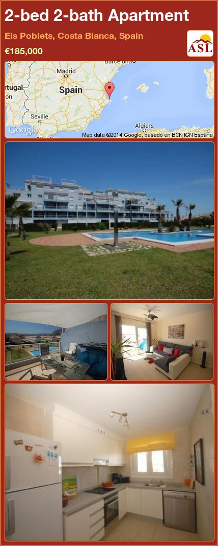 2-bed 2-bath Apartment in Els Poblets, Costa Blanca, Spain ►€185,000 #PropertyForSaleInSpain