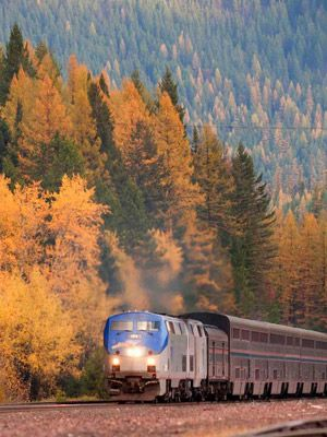Empire Builder train trip from Chicago to Seattle. Don't know if I'll be able to do it this time, but oh, so want to at some point!