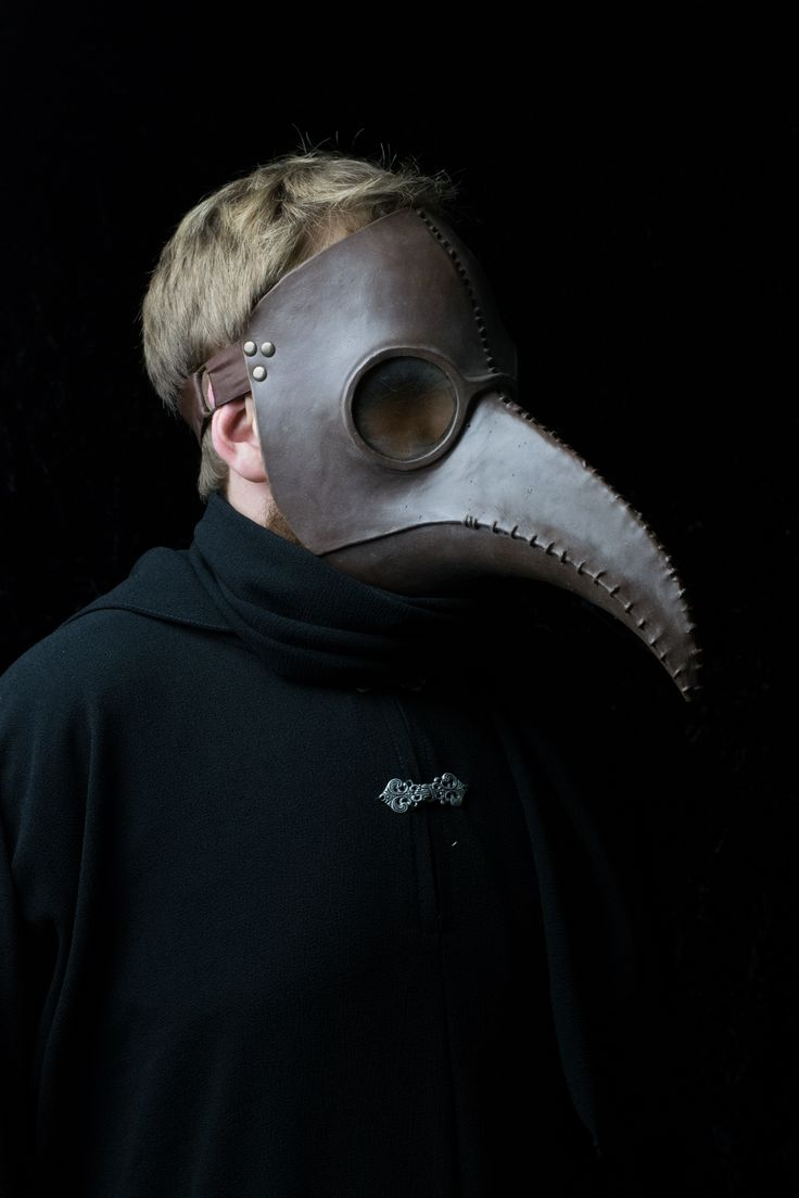 Brown traditional plague mask