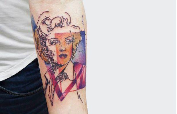 Carola Deutsch: Tattoos aquareladas e inspiradas em sketches http://followthecolours.com.br/tattoo-friday/carola-deutsch-tattoos/
