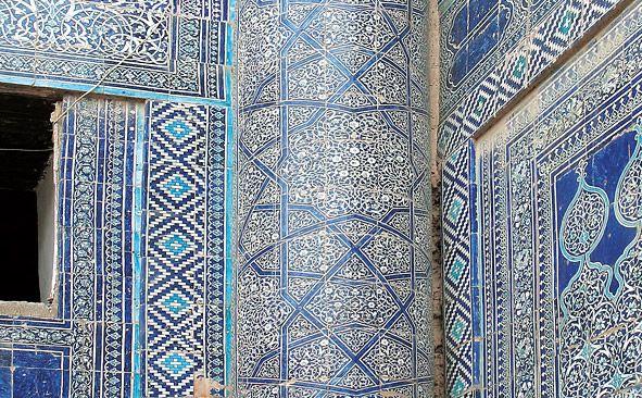 19th-century Tash Hauli palace in Khiva, Uzbekistan