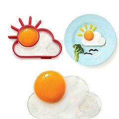sole anello nube di forma d'uovo per la prima colazione, strumenti di cottura della muffa dell'uovo, silicone, l10 * w8 * h1.2cm