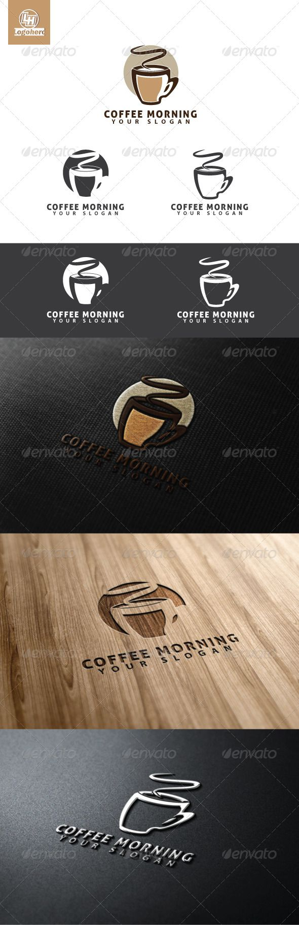 Coffee Morning Logo Template Vector FormatLetter LogoOffice