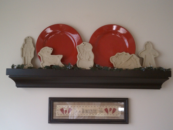 Christmas cookie mold kitchen shelf  2012 - It's a wonderful life !
