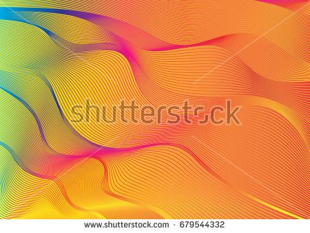 background with outlines blending multicolor abstract web