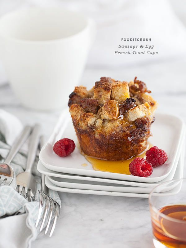 Sausage and Egg French Toast Cups are great for make ahead breakfasts