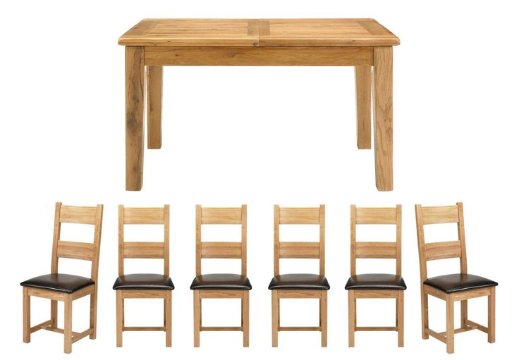 Extending Table & 6 wooden chairs - Lyon - Dining Tables and Chairs - American Red Oak - Dining Room Furniture | Furniture Village
