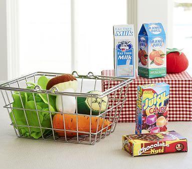 Mini Grocery Basket Set #pbkids
