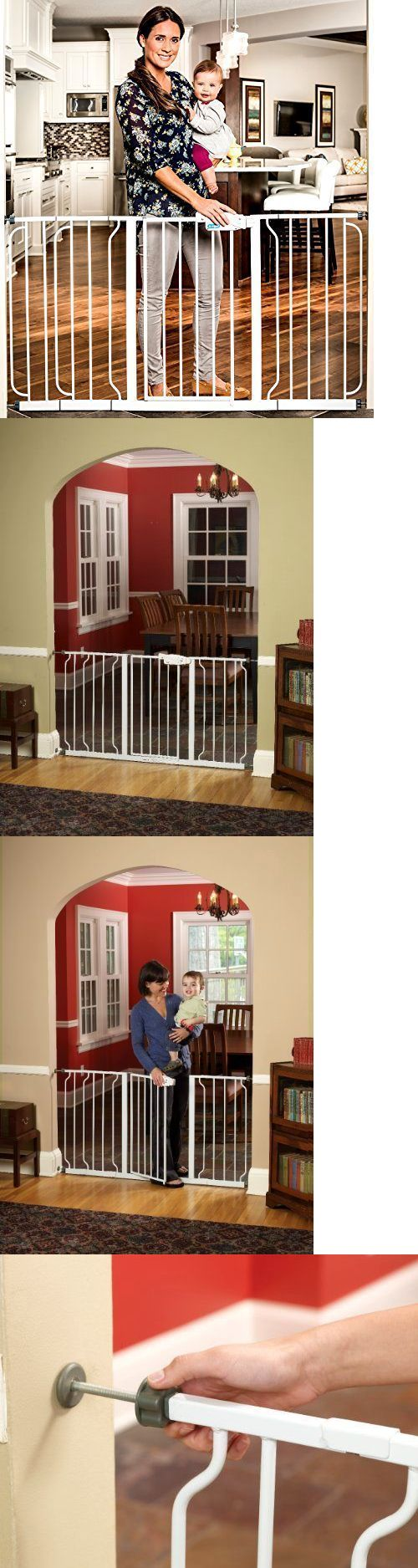 Safety Gates 117029: Extra Wide 58 Inch Walk Through Safety Locking Child Proof Dog Pet Gate White -> BUY IT NOW ONLY: $59.23 on eBay!