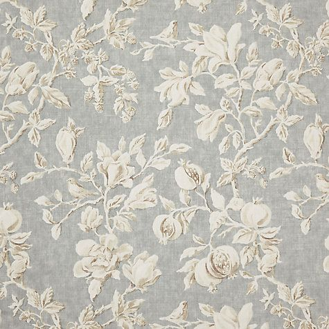 Buy Sanderson Magnolia and Pomegranate Furnishing Fabric, Grey Blue Online at johnlewis.com