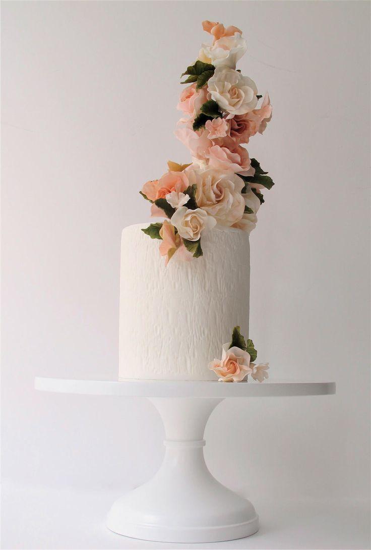 light peach flowers   maggie austin cake