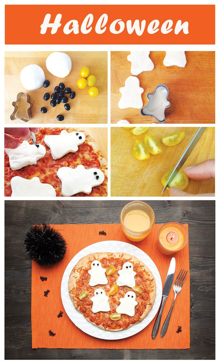 Receita divertida para decorar a sua #pizza #DrOetker Margherita neste Halloween!