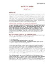legislative versus institutional policies in health care