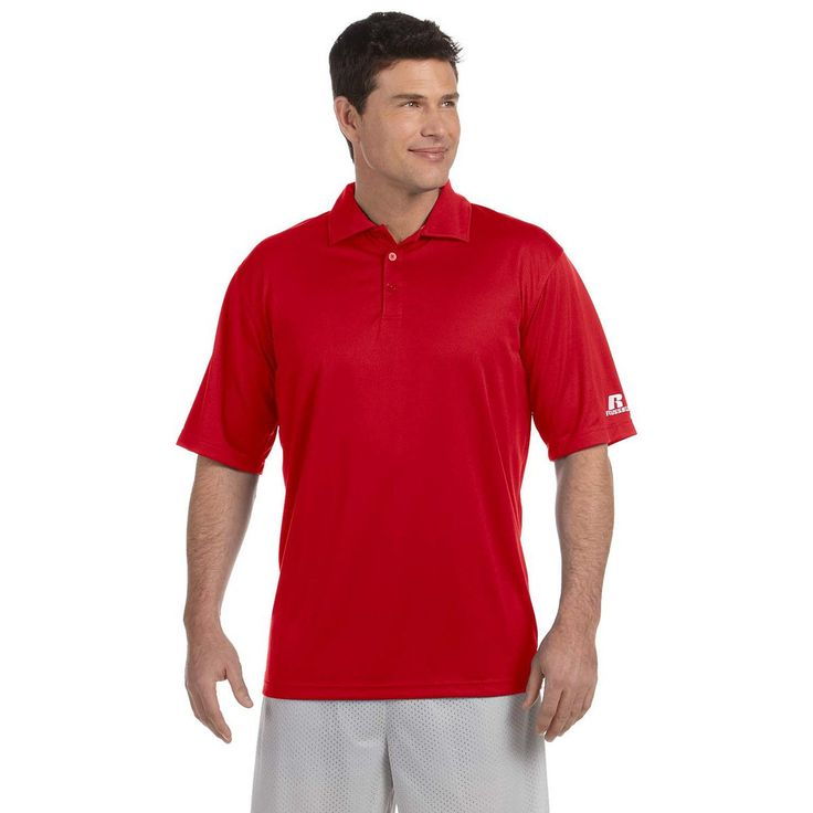 Russell Athletic Men's True Red Team Essential Polo