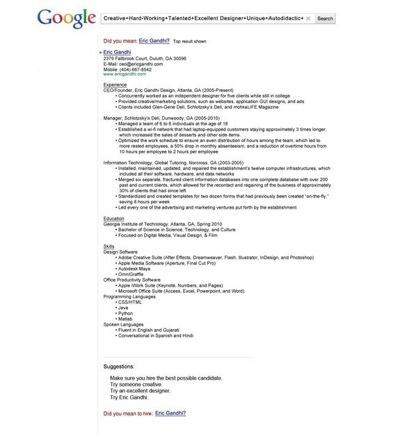 What are the most visually creative resumes you've seen? - Quora
