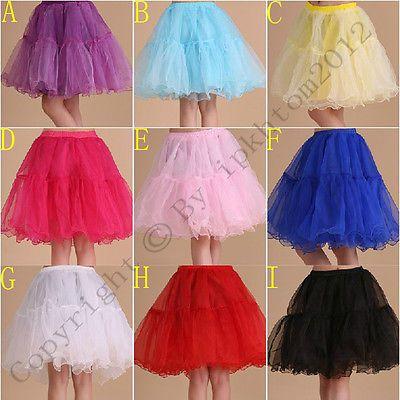 9 color tulle Wedding Crinoline Petticoat Bridal Underskirt Fancy Dress  Costume